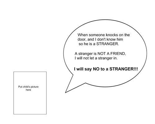 sc 1 st  Boardmaker Online & Door Reminder about Strangers
