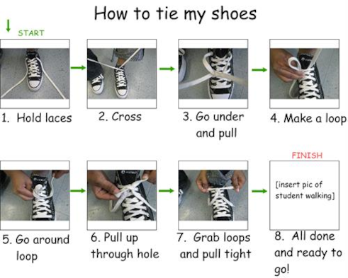 how to tie my shoes