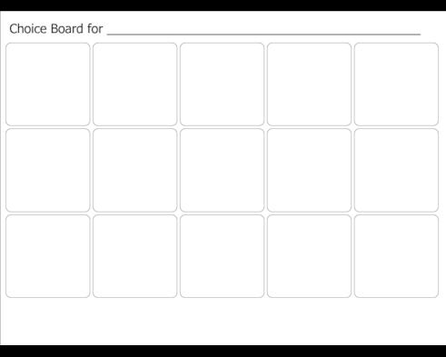 Choice Board Template