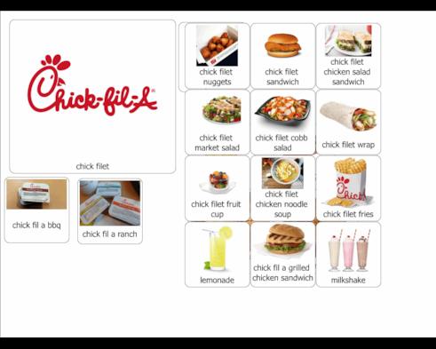 chick fil a menu