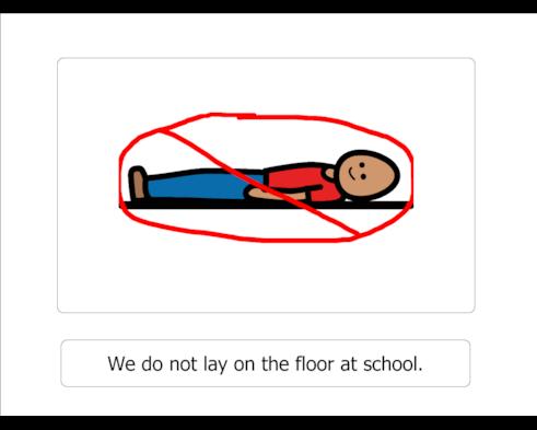 lay on floor social story