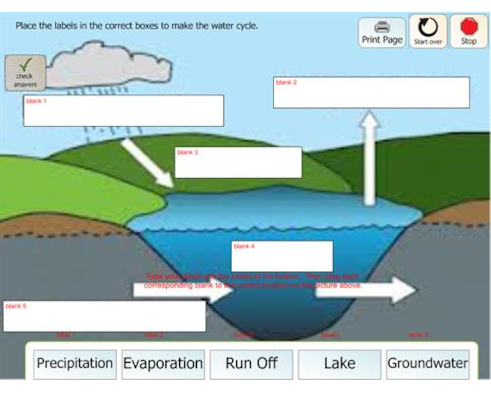 Water Cycle Labeling 2