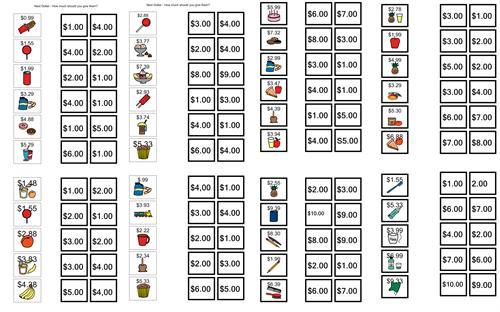Dollar Up Worksheets