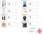 Price comparison worksheet
