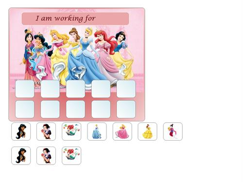 image about Token Board Printable referred to as 5 10 Body Token Forums - Disney Princesses
