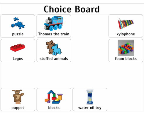 Template For Choice Board