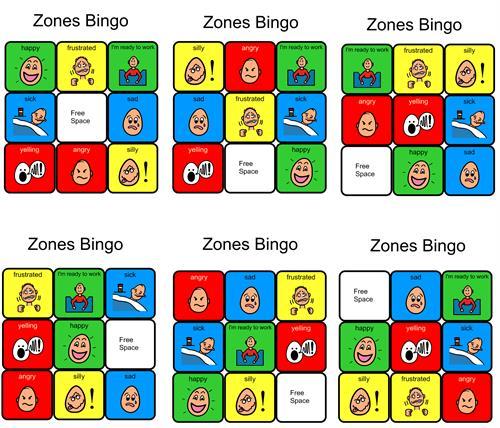 photo regarding Zones of Regulation Printable identify BINGO Playing cards Printable