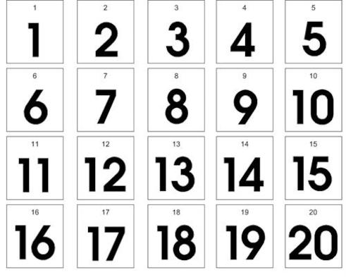 counting numbers 1 20 mattawa